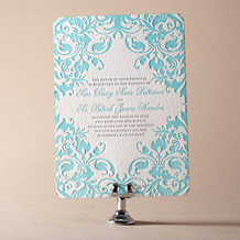 Jolie Letterpress Invitation Design Small