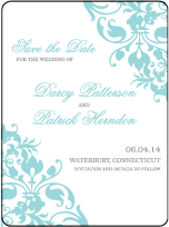 Jolie Letterpress Save The Date Design Small