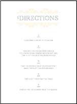 La Salle Letterpress Direction Design Small
