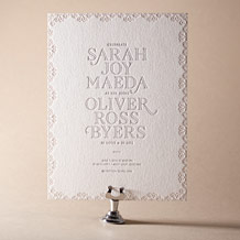 La Salle Letterpress Invitation Design Small