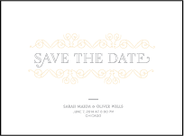 La Salle Letterpress Save The Date Design Small