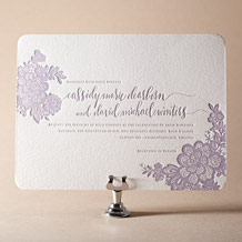 Lace Letterpress Invitation Design Small