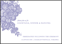 Lace Letterpress Reception Design Small