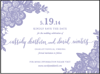 Lace Letterpress Save The Date Design Small
