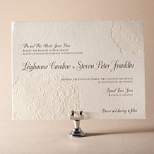 Leigha Spring Letterpress Invitation Design Small