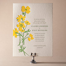 Lenox Botanical Letterpress Invitation Design Small