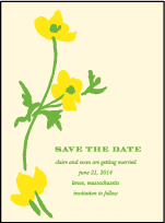 Lenox Botanical Letterpress Save The Date Design Small