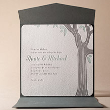 Linden Summer Letterpress Invitation Design Small