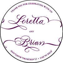 Loretta Formal Letterpress Coaster Design Small