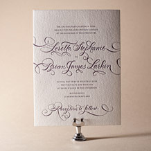 Loretta Formal Letterpress Invitation Design Small