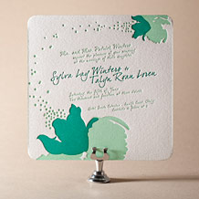Love Notes Letterpress Invitation Design Small