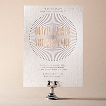 Lumos Letterpress Invitation Design Small