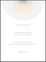 Lumos Letterpress Menu Design Small