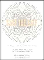 Lumos Letterpress Save The Date Design Small