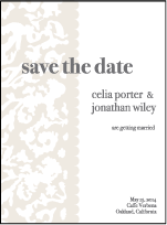 Lush Letterpress Save The Date Design Small