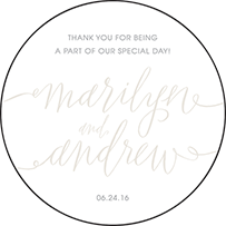 Madison Chic Letterpress Coaster Design Small