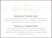 Madison Chic Letterpress Direction Design Small