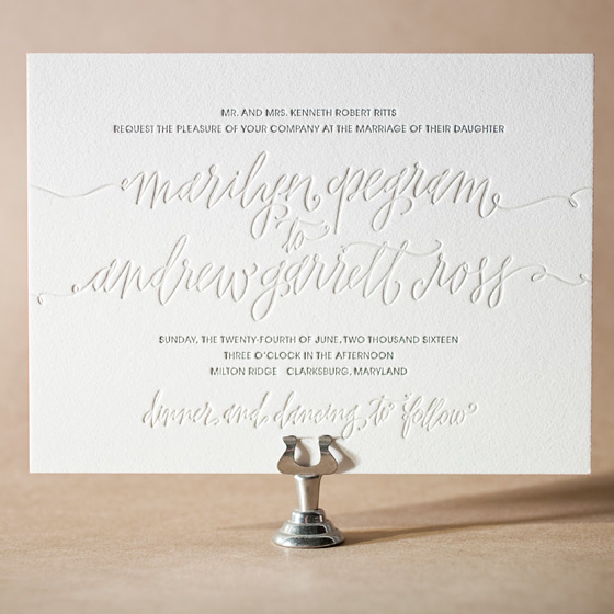 Madison Chic Letterpress Invitation Design Small