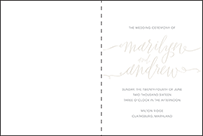 Madison Chic Letterpress Program Design Small