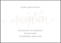 Madison Chic Letterpress Reception Design Small