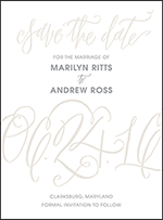 Madison Chic Letterpress Save The Date Design Small