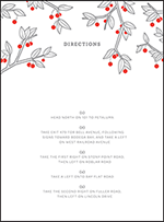 Mae Letterpress Direction Design Small