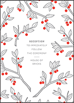 Mae Letterpress Reception Design Small