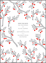 Mae Letterpress Save The Date Design Small