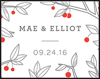 Mae Letterpress Stamp Design Small