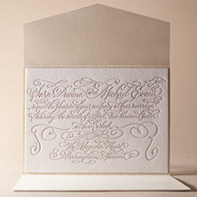 Magnolia Letterpress Invitation Design Small