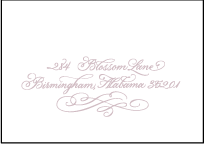 Magnolia Letterpress Reply Envelope Design Small