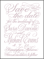 Magnolia Letterpress Save The Date Design Small