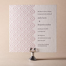 Majorca Letterpress Invitation Design Small