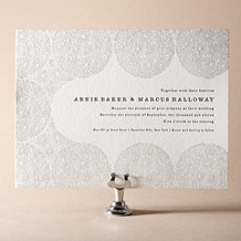 Meadow Letterpress Invitation Design Small