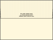 Measurement Letterpress Envelope Design Small