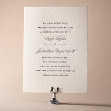 Measurement Letterpress Invitation Design Small