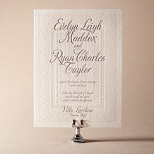 Medley Letterpress Invitation Design Small