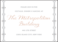 Melodie Frame Letterpress Reception Design Small