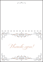 Melodie Frame Letterpress Thank You Card Fold Design Small