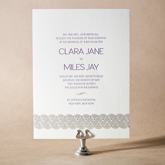 Miles Letterpress Invitation Design Small