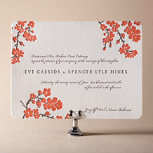 Mimosa Letterpress Invitation Design Small
