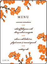 Mimosa Letterpress Menu Design Small
