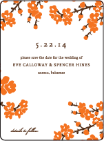 Mimosa Letterpress Save The Date Design Small
