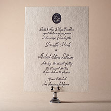Miranda Letterpress Invitation Design Small