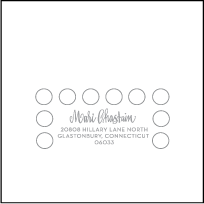 Moda Contemporary Letterpress Reply Envelope Design Small