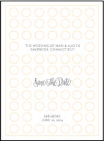 Moda Contemporary Letterpress Save The Date Design Small