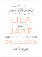 Modern Basel Letterpress Save The Date Design Small