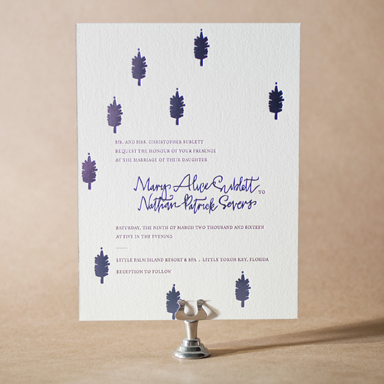 Modern Bazaar Letterpress Invitation Design Small