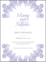 Modern Bazaar Letterpress Save The Date Design Small
