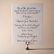 Modern Calligraphy Letterpress Invitation Design Small
